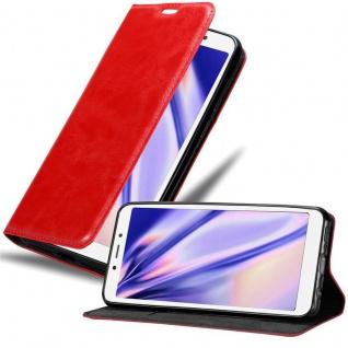 Cadorabo Hülle für Xiaomi RedMi 6A in APFEL ROT Handyhülle mit Magnetverschluss, Standfunktion und Kartenfach Case Cover Schutzhülle Etui Tasche Book Klapp Style