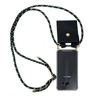 Cadorabo Handy Kette für Samsung Galaxy S7 EDGE in CAMOUFLAGE ? Silikon Necklace Umhänge Hülle mit Gold Ringen, Kordel Band Schnur und abnehmbarem Etui ? Schutzhülle