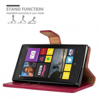Cadorabo Hülle für Nokia Lumia 1020 in WEIN ROT - Handyhülle mit Magnetverschluss, Standfunktion und Kartenfach - Case Cover Schutzhülle Etui Tasche Book Klapp Style - Vorschau 5