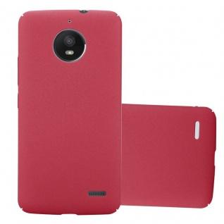 Cadorabo Hülle für Motorola MOTO E4 in FROSTY ROT Hardcase Handyhülle aus Plastik gegen Kratzer und Stöße Schutzhülle Bumper Ultra Slim Back Case Hard Cover