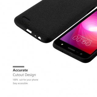 Cadorabo Hülle für LG X POWER 2 in FROST SCHWARZ - Handyhülle aus flexiblem TPU Silikon - Silikonhülle Schutzhülle Ultra Slim Soft Back Cover Case Bumper - Vorschau 3