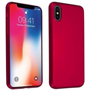 Cadorabo Hülle für Apple iPhone X / XS in METALL ROT ? Hardcase Handyhülle aus Plastik gegen Kratzer und Stöße ? Schutzhülle Bumper Ultra Slim Back Case Hard Cover - Vorschau 1