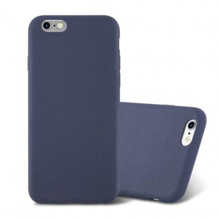 Cadorabo Hülle für Apple iPhone 6 / iPhone 6S in FROST DUNKEL BLAU - Handyhülle aus flexiblem TPU Silikon - Silikonhülle Schutzhülle Ultra Slim Soft Back Cover Case Bumper