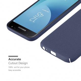 Cadorabo Hülle für Samsung Galaxy J3 2017 in FROSTY BLAU Hardcase Handyhülle aus Plastik gegen Kratzer und Stöße Schutzhülle Bumper Ultra Slim Back Case Hard Cover