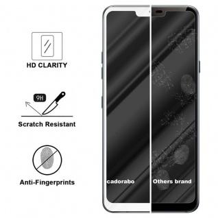 Cadorabo Vollbild Panzer Folie für LG G7 ThinQ - Schutzfolie in TRANSPARENT mit WEISS - Gehärtetes (Tempered) Display-Schutzglas in 9H Härte mit 3D Touch Kompatibilität - Vorschau 3