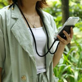 Cadorabo Handy Kette für Apple iPhone 8 PLUS / 7 PLUS / 7S PLUS in SCHWARZ - Silikon Necklace Umhänge Hülle mit Silber Ringen, Kordel Band Schnur und abnehmbarem Etui - Schutzhülle - Vorschau 3