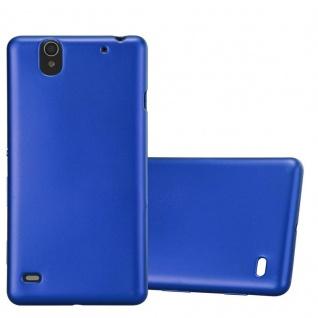 Cadorabo Hülle für Sony Xperia C4 in METALLIC BLAU - Handyhülle aus flexiblem TPU Silikon - Silikonhülle Schutzhülle Ultra Slim Soft Back Cover Case Bumper