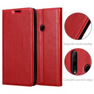 Cadorabo Hülle für Honor 20 LITE in APFEL ROT - Handyhülle mit Magnetverschluss, Standfunktion und Kartenfach - Case Cover Schutzhülle Etui Tasche Book Klapp Style - Vorschau 5