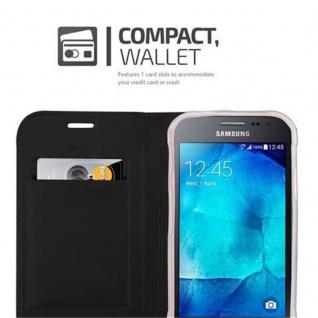 Cadorabo Hülle für Samsung Galaxy XCOVER 3 in CLASSY SCHWARZ - Handyhülle mit Magnetverschluss, Standfunktion und Kartenfach - Case Cover Schutzhülle Etui Tasche Book Klapp Style - Vorschau 3