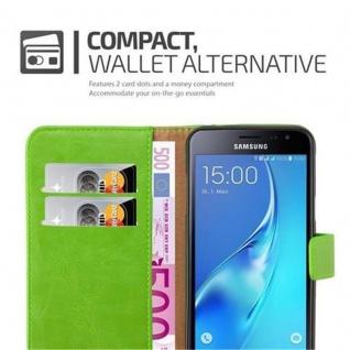 Cadorabo Hülle für Samsung Galaxy J3 2016 in GRAS GRÜN ? Handyhülle mit Magnetverschluss, Standfunktion und Kartenfach ? Case Cover Schutzhülle Etui Tasche Book Klapp Style - Vorschau 4