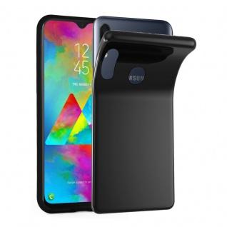 Cadorabo Hülle für Samsung Galaxy M20 in SCHWARZ - Handyhülle aus flexiblem TPU Silikon - Silikonhülle Schutzhülle Ultra Slim Soft Back Cover Case Bumper