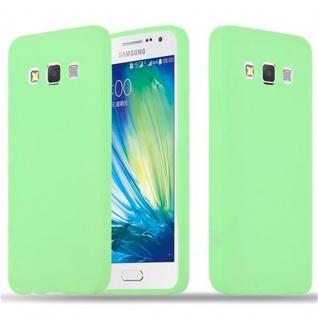 Cadorabo Hülle für Samsung Galaxy A3 2015 in CANDY PASTELL GRÜN - Handyhülle aus flexiblem TPU Silikon - Silikonhülle Schutzhülle Ultra Slim Soft Back Cover Case Bumper
