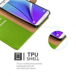 Cadorabo Hülle für Samsung Galaxy NOTE 5 in GRAS GRÜN ? Handyhülle mit Magnetverschluss, Standfunktion und Kartenfach ? Case Cover Schutzhülle Etui Tasche Book Klapp Style - Vorschau 4