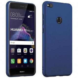 Cadorabo Hülle für Huawei P8 LITE 2017 in METALL BLAU - Hardcase Handyhülle aus Plastik gegen Kratzer und Stöße - Schutzhülle Bumper Ultra Slim Back Case Hard Cover