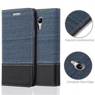 Cadorabo Hülle für Samsung Galaxy S4 MINI in DUNKEL BLAU SCHWARZ - Handyhülle mit Magnetverschluss, Standfunktion und Kartenfach - Case Cover Schutzhülle Etui Tasche Book Klapp Style - Vorschau 2