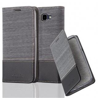 Cadorabo Hülle für LG K4 2016 in GRAU SCHWARZ - Handyhülle mit Magnetverschluss, Standfunktion und Kartenfach - Case Cover Schutzhülle Etui Tasche Book Klapp Style