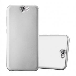 Cadorabo Hülle für HTC ONE A9 in METALLIC SILBER - Handyhülle aus flexiblem TPU Silikon - Silikonhülle Schutzhülle Ultra Slim Soft Back Cover Case Bumper - Vorschau 1