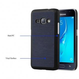 Cadorabo Hülle für Samsung Galaxy J1 2016 in WOODY BLAU ? Hardcase Handyhülle aus Plastik gegen Kratzer und Stöße ? Schutzhülle Bumper Ultra Slim Back Case Hard Cover - Vorschau 4