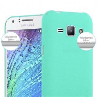Cadorabo Hülle für Samsung Galaxy J1 2015 in FROSTY GRÜN - Hardcase Handyhülle aus Plastik gegen Kratzer und Stöße - Schutzhülle Bumper Ultra Slim Back Case Hard Cover - Vorschau 5