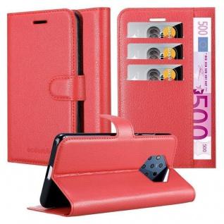 Cadorabo Hülle für Nokia 9 PURE VIEW in KARMIN ROT Handyhülle mit Magnetverschluss, Standfunktion und Kartenfach Case Cover Schutzhülle Etui Tasche Book Klapp Style