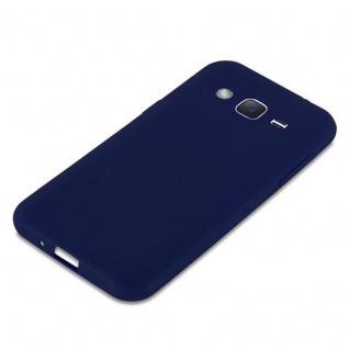 Cadorabo Hülle für Samsung Galaxy J2 2015 in CANDY DUNKEL BLAU - Handyhülle aus flexiblem TPU Silikon - Silikonhülle Schutzhülle Ultra Slim Soft Back Cover Case Bumper - Vorschau 4