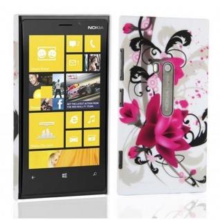 Cadorabo Hülle für Nokia Lumia 800 - Hülle im Design ROTE ROSE ? Hardcase Handyhülle mit Aufdruck - Schutzhülle Bumper Back Case Cover