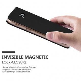 Cadorabo Hülle für Samsung Galaxy A3 2017 in CLASSY SCHWARZ - Handyhülle mit Magnetverschluss, Standfunktion und Kartenfach - Case Cover Schutzhülle Etui Tasche Book Klapp Style - Vorschau 5