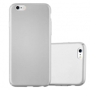 Cadorabo Hülle für Apple iPhone 6 PLUS / iPhone 6S PLUS in METALL SILBER Hardcase Handyhülle aus Plastik gegen Kratzer und Stöße Schutzhülle Bumper Ultra Slim Back Case Hard Cover