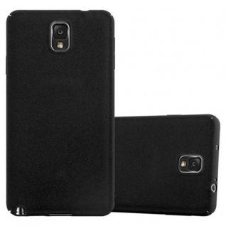 Cadorabo Hülle für Samsung Galaxy NOTE 3 in FROSTY SCHWARZ - Hardcase Handyhülle aus Plastik gegen Kratzer und Stöße - Schutzhülle Bumper Ultra Slim Back Case Hard Cover