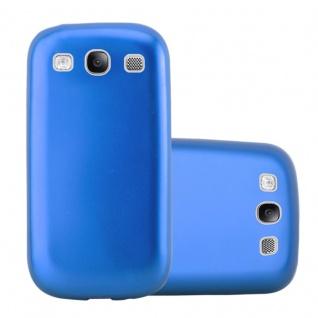 Cadorabo Hülle für Samsung Galaxy S3 / S3 NEO in METALLIC BLAU - Handyhülle aus flexiblem TPU Silikon - Silikonhülle Schutzhülle Ultra Slim Soft Back Cover Case Bumper