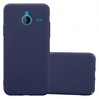 Cadorabo Hülle für Nokia Lumia 640 XL in FROSTY BLAU Hardcase Handyhülle aus Plastik gegen Kratzer und Stöße Schutzhülle Bumper Ultra Slim Back Case Hard Cover
