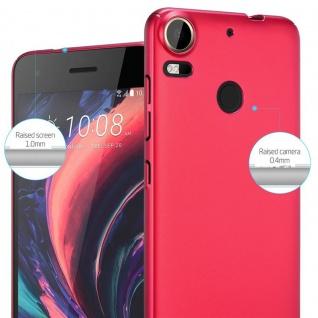 Cadorabo Hülle für HTC Desire 10 PRO in METALL ROT ? Hardcase Handyhülle aus Plastik gegen Kratzer und Stöße ? Schutzhülle Bumper Ultra Slim Back Case Hard Cover - Vorschau 4