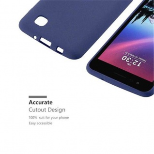 Cadorabo Hülle für LG K4 2017 in FROST DUNKEL BLAU - Handyhülle aus flexiblem TPU Silikon - Silikonhülle Schutzhülle Ultra Slim Soft Back Cover Case Bumper - Vorschau 3