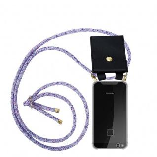 Cadorabo Handy Kette für Huawei P10 LITE in UNICORN Silikon Necklace Umhänge Hülle mit Gold Ringen, Kordel Band Schnur und abnehmbarem Etui Schutzhülle