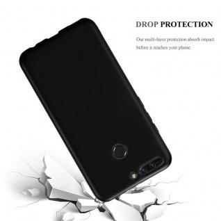 Cadorabo Hülle für Honor 8 PRO in METALLIC SCHWARZ - Handyhülle aus flexiblem TPU Silikon - Silikonhülle Schutzhülle Ultra Slim Soft Back Cover Case Bumper - Vorschau 3