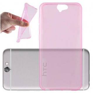 Cadorabo Hülle für HTC ONE A9 in TRANSPARENT PINK - Handyhülle aus flexiblem TPU Silikon - Silikonhülle Schutzhülle Ultra Slim Soft Back Cover Case Bumper