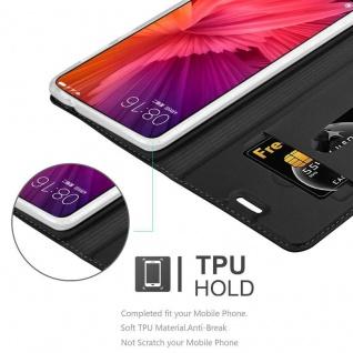 Cadorabo Hülle für Xiaomi Mi MIX 2 in CLASSY SCHWARZ - Handyhülle mit Magnetverschluss, Standfunktion und Kartenfach - Case Cover Schutzhülle Etui Tasche Book Klapp Style - Vorschau 2