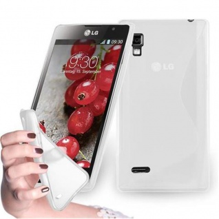 Cadorabo Hülle für LG OPTIMUS L9 in HALB TRANSPARENT ? Handyhülle aus flexiblem TPU Silikon ? Silikonhülle Schutzhülle Ultra Slim Soft Back Cover Case Bumper
