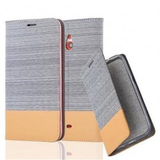 Cadorabo Hülle für Nokia Lumia 1320 in HELL GRAU BRAUN - Handyhülle mit Magnetverschluss, Standfunktion und Kartenfach - Case Cover Schutzhülle Etui Tasche Book Klapp Style