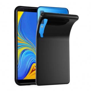 Cadorabo Hülle für Samsung Galaxy A7 2018 in SCHWARZ - Handyhülle aus flexiblem TPU Silikon - Silikonhülle Schutzhülle Ultra Slim Soft Back Cover Case Bumper