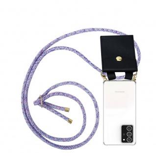 Cadorabo Handy Kette für Samsung Galaxy NOTE 20 PLUS in UNICORN Silikon Necklace Umhänge Hülle mit Gold Ringen, Kordel Band Schnur und abnehmbarem Etui Schutzhülle