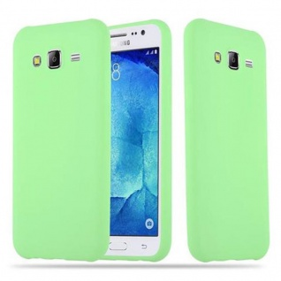 Cadorabo Hülle für Samsung Galaxy J5 2015 in CANDY PASTELL GRÜN - Handyhülle aus flexiblem TPU Silikon - Silikonhülle Schutzhülle Ultra Slim Soft Back Cover Case Bumper