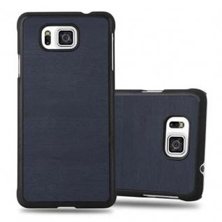 Cadorabo Hülle für Samsung Galaxy ALPHA in WOODY BLAU ? Hardcase Handyhülle aus Plastik gegen Kratzer und Stöße ? Schutzhülle Bumper Ultra Slim Back Case Hard Cover