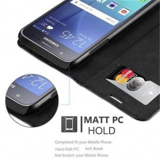 Cadorabo Hülle für Samsung Galaxy J5 2015 in NACHT SCHWARZ - Handyhülle mit Magnetverschluss, Standfunktion und Kartenfach - Case Cover Schutzhülle Etui Tasche Book Klapp Style - Vorschau 5