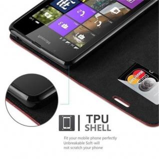 Cadorabo Hülle für Nokia Lumia 540 in APFEL ROT Handyhülle mit Magnetverschluss, Standfunktion und Kartenfach Case Cover Schutzhülle Etui Tasche Book Klapp Style - Vorschau 3