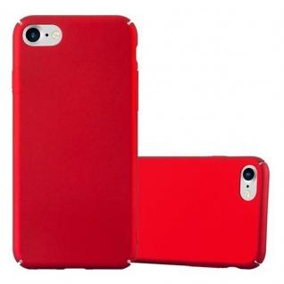 Cadorabo Hülle für Apple iPhone 7 / iPhone 7S / iPhone 8 in METALL ROT - Hardcase Handyhülle aus Plastik gegen Kratzer und Stöße - Schutzhülle Bumper Ultra Slim Back Case Hard Cover