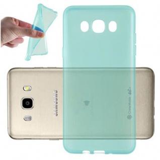 Cadorabo Hülle für Samsung Galaxy J7 2016 in TRANSPARENT BLAU - Handyhülle aus flexiblem TPU Silikon - Silikonhülle Schutzhülle Ultra Slim Soft Back Cover Case Bumper