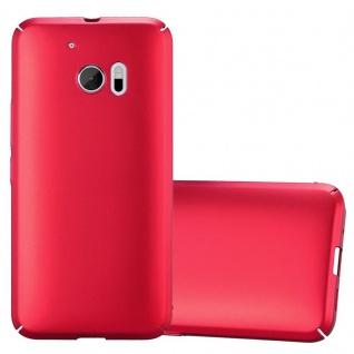 Cadorabo Hülle für HTC 10 (One M10) in METALL ROT ? Hardcase Handyhülle aus Plastik gegen Kratzer und Stöße ? Schutzhülle Bumper Ultra Slim Back Case Hard Cover