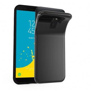 Cadorabo Hülle für Samsung Galaxy J6 2018 in SCHWARZ - Handyhülle aus flexiblem TPU Silikon - Silikonhülle Schutzhülle Ultra Slim Soft Back Cover Case Bumper