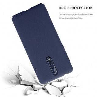 Cadorabo Hülle für Nokia 8 2017 in FROSTY BLAU - Hardcase Handyhülle aus Plastik gegen Kratzer und Stöße - Schutzhülle Bumper Ultra Slim Back Case Hard Cover - Vorschau 3